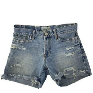 Aeropostale Super Distressed Jean Shorts Size 28